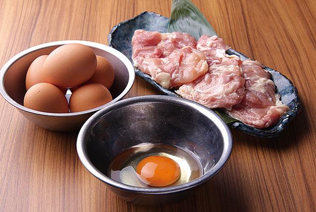 県産地鶏のモモ肉や新発田市のブランド卵