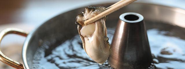 牡蠣のしゃぶしゃぶ