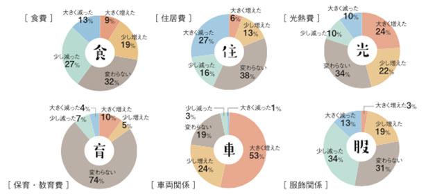 支出に関する円グラフ