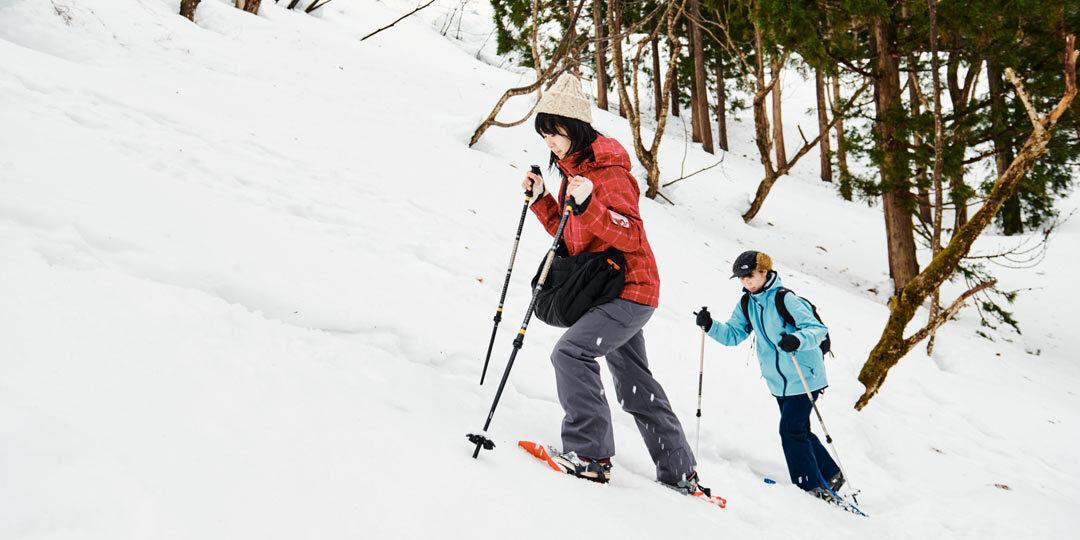 雪の魅力を再発見! スノーシューの探検で里山に広がる銀世界へ