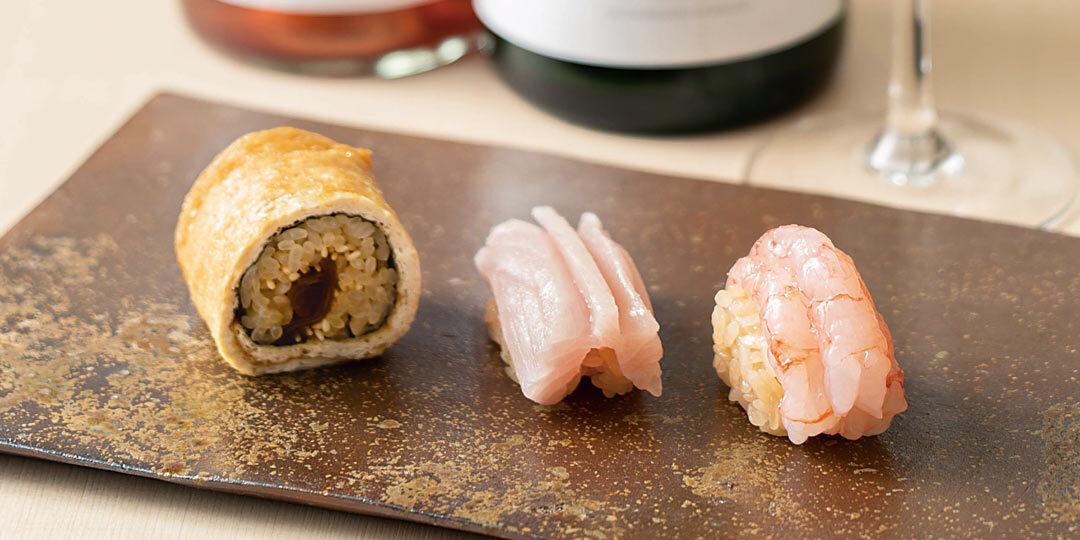 お酒が恋しくなるシャリ!〈鮨はたけやま〉で堪能するワインと寿司のマリアージュ