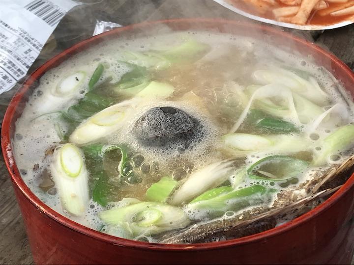 粟島の名物料理・わっぱ煮