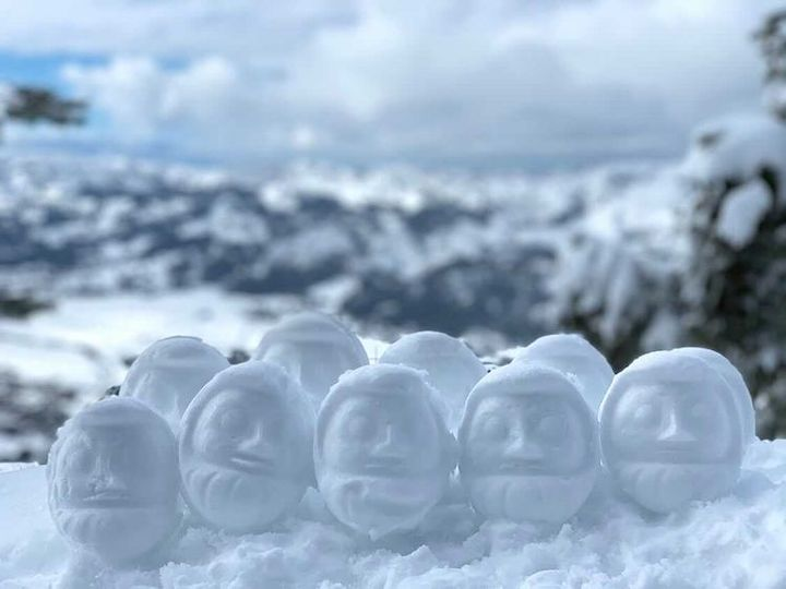 密な雪だるま