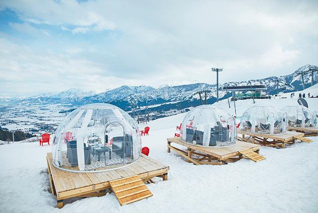 透明なドームテント