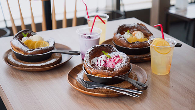人気メニュー「雪山のパンケーキ」