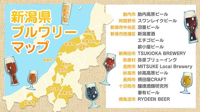新潟県のブルワリーマップ