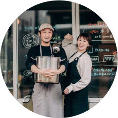 カレーとごまどうふの店〈石本商店〉 大島史也・梢絵夫妻