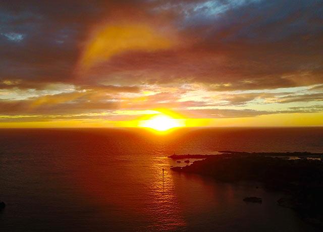 尖閣湾の夕焼け